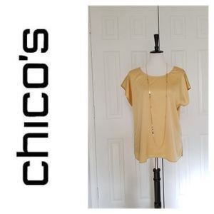 Chico's Gold Shell Top - Size 2